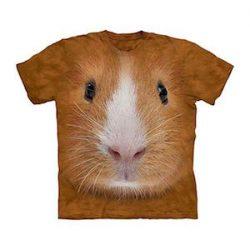 2018 Nueva Moda Hombres Cool 3D Impresión Hamster Amarillo de Manga Corta Encantadora Verano Ocio Ropa Streetwear Suelto