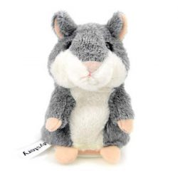CestMall Talking Hamster Repite lo Que Dices Electronic Pet Talking Plush Buddy Mouse para niños, 3 x 5.7 Pulgadas