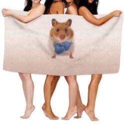 Fedso Hamster Boxer - Toalla de Playa Ultra Absorbente de Microfibra para Picnic, para Hombres, Mujeres y niños