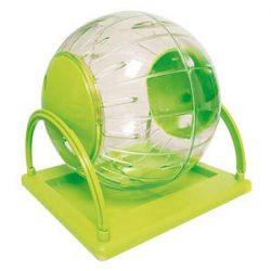 ICA GP10579 Accesorio de Recreo Bola de Ejercicio Plástica con Base para Hámster