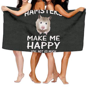IGENERAL Hamsters Make Me Happy Unisex Fashion Towel Personalized Print Beach Towels