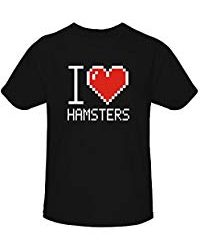 Idakoos I Love Hamsters Pixelated - Animales - Camiseta Niña