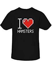 Idakoos I Love Hamsters Pixelated - Animales - Camiseta Niña