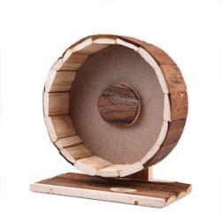 Jannyshop Hamster - Rueda de ejercicio para hámster y mascotas pequeñas, de madera