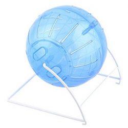 Jaula de rueda la bola del juguete DealMux Gerbil del hámster de ratón de los ratones de ejercicio físico Blanco Azul