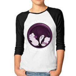 JuJuhk Play All Night,Hamster Pretty Women 3/4 Sleeve Raglan Funny Printed tee Shirt