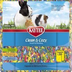 Kaytee Sustrato de virutas de papel muy absorbente para roedores Clean & Cozy