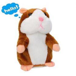 Lalagofe hámster hablando Hablar hámster Talking Hamster Repetir lo que dices mimetismo mascotas Muñeco de Peluche Adorable Interesante Plush Kids Toys los niños juguetes Regalos 15cm (Caqui)