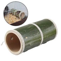 Legendog Juguete Hamster Hamster House Juguete De Tubo De Túnel De Bambú Natural para Ratón