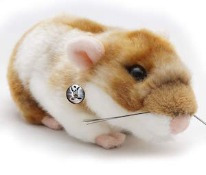 Or Hamster Fleurs 18 cm Peluche de kuscheltiere. Biz