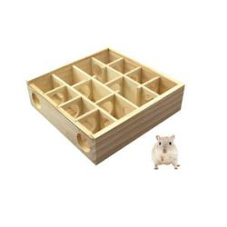 Petacc Hámster Laberinto de madera Juguete para mascotas Juguete de hámster
