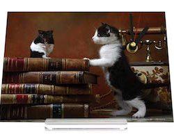 Reloj de escritorio Chat Nostálgica hámster gatito Decoración Retro