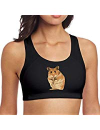 TQSff66 Women's Sports Bra Yoga Vest Cute Hamster Breathable Workout Tank Top