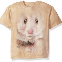 The Mountain Hamster Face Kids tee Camiseta, Niños
