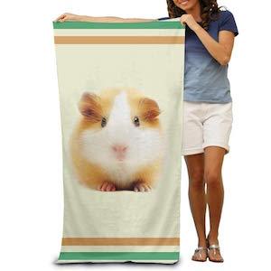Toallas de baño divertidas y bonitas para hámster, toallas de playa suaves y absorbentes, 78,74 x 121,92 cm