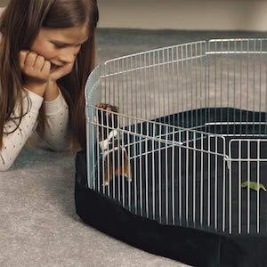 VivaPet Parque para animales con paneles laterales, octogonal, para roedores y cachorros, con 8 paneles, pequeño, 86,36 cm