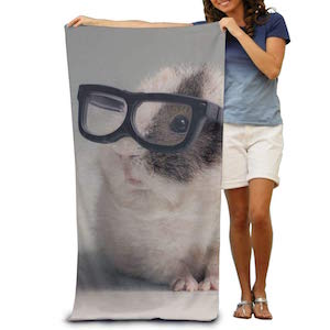 YSEFHX Hamster Animals Glasses Creating 10Polyester Soft Beach Towel Quick Dry Super Absorbent For Men Or Women