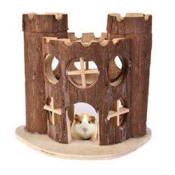 Yunt Hamster - Jaula de madera natural para casa de juguete, pequeña mascota, para hámsteres, ratas, ratas y otras mascotas pequeñas