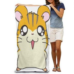 ZhGuGe Personalized Hamster Cartoon Oversized Beach Towel Pool Towel,Swim Towels For Bathroom,Gym,and Pool