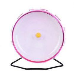 yunt rueda de ejercicio para hámster con 21 cm soporte acero juguete para pequeño Animal